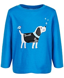 Baby Boys Long-Sleeve Dog Cotton T-Shirt, Created for Macy's