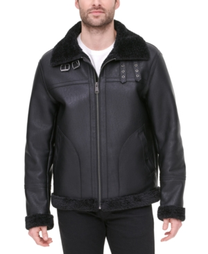 Tommy Hilfiger Men's Faux Leather Fleece-Lined Shortie Jacket, Created for Macy's