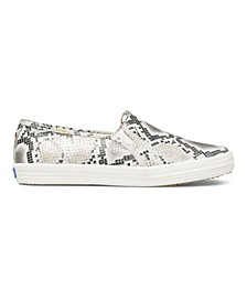Women's Double Decker KS Snake Leather Sneakers