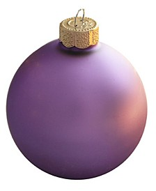 Glass Christmas Ornaments, Box of 8