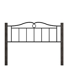 Dumont Arched Metal and Wood Full Headboard