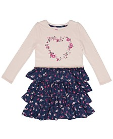 Long Sleeve Floral Ruffle Dress
