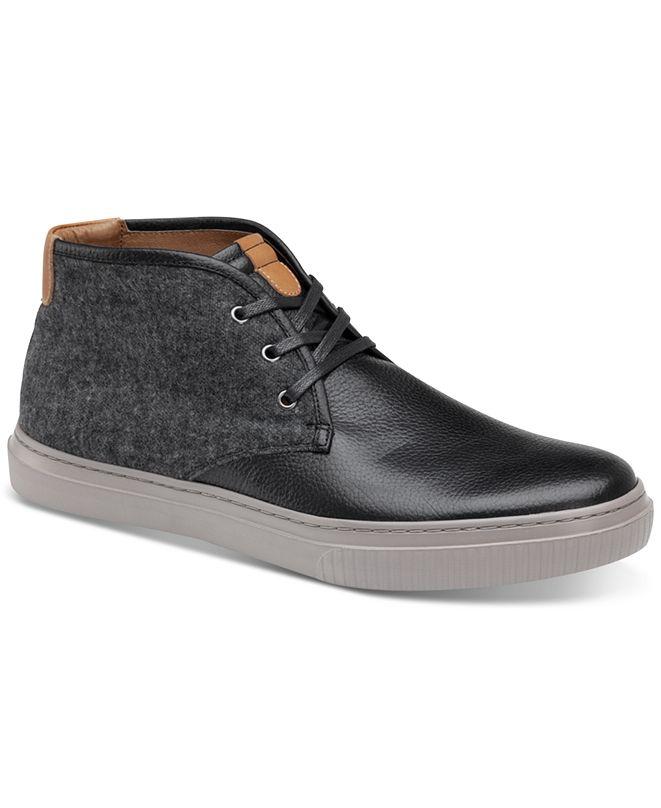 Johnston & Murphy Men's Toliver Leather & Wool Chukka Sneakers