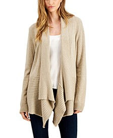 Ribbed Waterfall Cardigan
