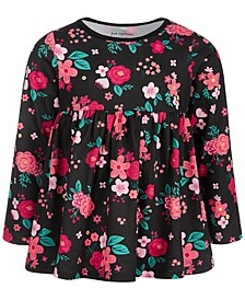 Baby Girls Long-Sleeve Holiday Rose Cotton Tunic, Created for Macy's