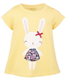 Baby Girls Short Sleeve Town Bunny Tee, Created for Macy's