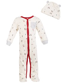 Baby Boys or Girls Koala-Print Coverall Set, Created for Macy's