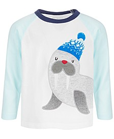 Baby Boys Long-Sleeve Walrus Cotton T-Shirt, Created for Macy's
