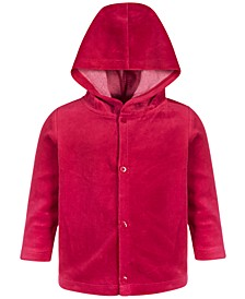 Baby Girls Hooded Velour Jacket, Created for Macy's