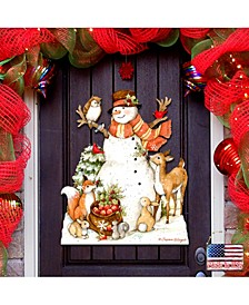 by Susan Winget Ivory Snowman Outdoor Wall and Door Decor