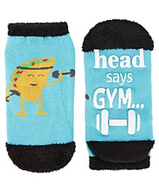Head Says Gym Heart Wants Tacos Women's Low Cut Socks
