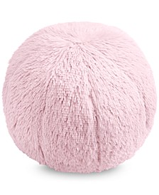 "Faux-Fur Pom Pom 10"" Round Decorative Pillow, Created for Macy's"