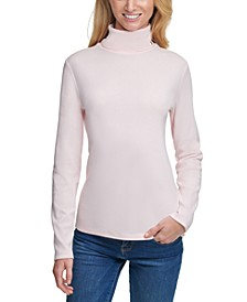 Cotton Turtleneck Top