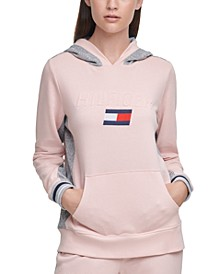 Logo Colorblocked Hooded Sweatshirt