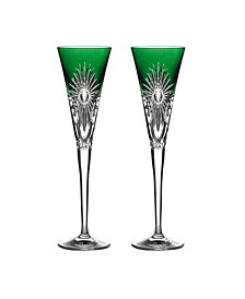 Times Square Flute Pair Emerald