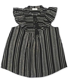 Plus Size Smocked Ruffle-Sleeve Top, Created for Macy's