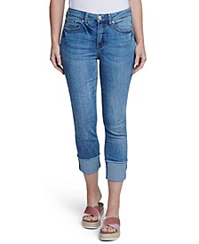 Cuffed Slim Straight-Leg Jeans