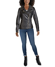 Moto Leather Jacket, Created for Macy's