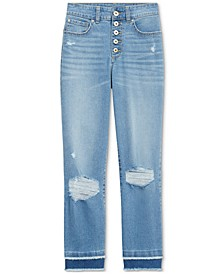 INC Ripped Straight-Leg Jeans, Created for Macy's
