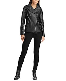 Leather Asymmetrical Moto Jacket