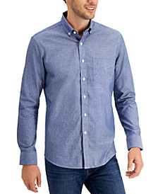 Men's Chambray Cotton Shirt, Created for Macy's