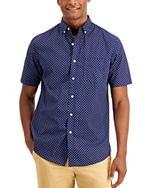 Men's Printed Cotton Shirt, Created for Macy's