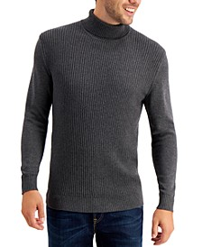 Men's Textured Cotton Turtleneck Sweater, Created for Macy's