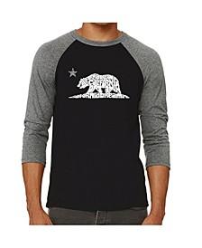California Dreaming Men's Raglan Word Art T-shirt