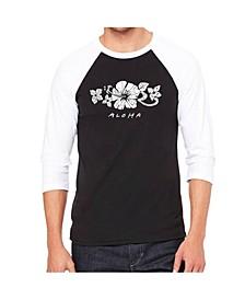Aloha Men's Raglan Word Art T-shirt