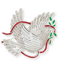 Silver-Tone Crystal Dove Pin, Created for Macy's