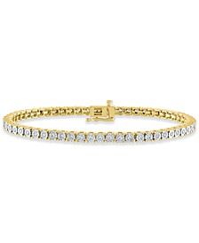 Diamond Tennis Bracelet (1 ct. t.w.) in Sterling Silver, 14k Gold-Plated Sterling Silver, or 14k Rose Gold-Plated Sterling Silver