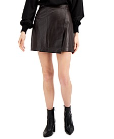 Abri Leather Mini Skirt
