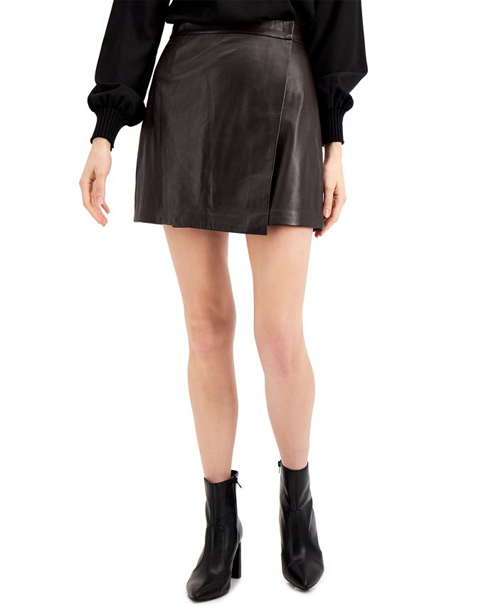 French Connection - Abri Leather Mini Skirt