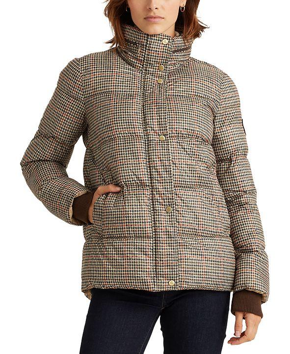 Lauren Ralph Lauren Houndstooth Puffer Coat