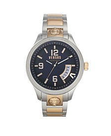 Men's Reale Silver and Rose Gold Tone Stainless Steel Bracelet Watch 44mm