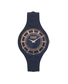 Women's Fire Island Studs Blue Silicone Strap Watch 39mm