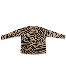 Petite Cashmere Animal-Print Sweater, Created for Macy's