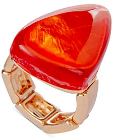 Gold-Tone Orange Statement Stretch Ring, Created for Macy's