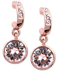 Earrings, Rose Gold-Tone Swarovski Silk Crystal Drop Earrings