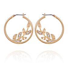 Women's Fashionable Florals Hoop Earring