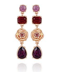 Women's Fashionable Florals Linear Drop Earring
