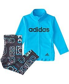 Baby Girls Long Sleeve Zip Front Hyperreal Jacket & Tight Set