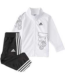 Baby Boys Zip Front Brand Love Jacket & Pant Set