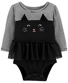 Baby Girl  Halloween Cat Bubble Romper