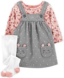 Baby Girl  3-Piece Tee & Skirtall Set