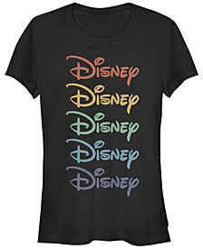 Women's Disney Logo Disney Rainbow Short Sleeve T-shirt