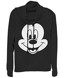 Women's Disney Mickey Classic Big Face Mickey Fleece Cowl Neck Sweatshirt