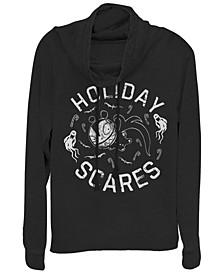 Women's Nightmare Before Christmas Holiday Scares Doll Fleece Cowl Neck Sweatshirt