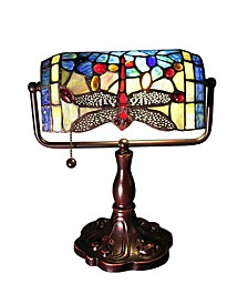 "Stella 14"" 1-Light Indoor Tiffany Accent Lamp with Light Kit"