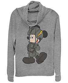 Women's Disney Mickey Classic Mickey Jet Pilot Fleece Cowl Neck Sweatshirt